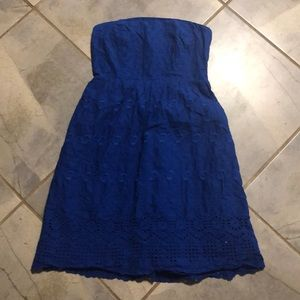 Old Navy | Blue Strapless Dress